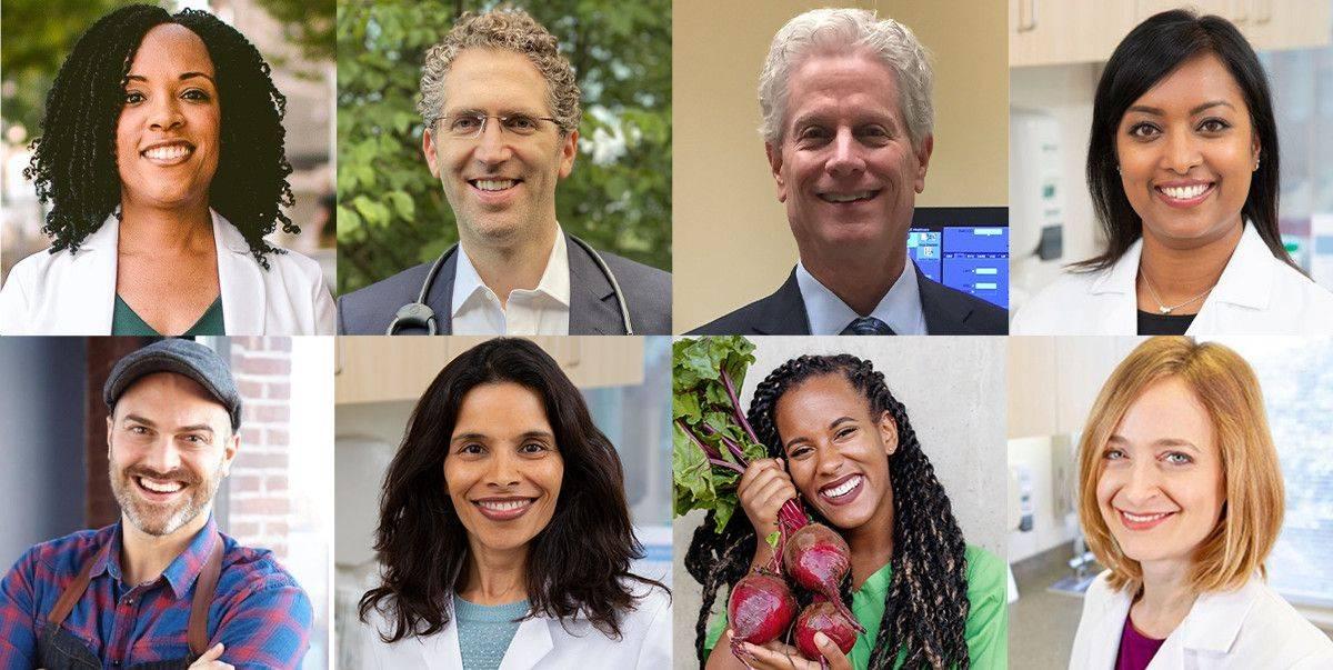 Top, from left: Judy Brangman, MD, Robert Ostfeld, MD, MSc, FACC, Neil B. Cooper, MD, MHA, MSc, DipABLM, Jasmol Sardana, DO, DipABLM; bottom, from left: Dustin Harder, Vanita Rahman, MD, Brooklynne Palmer, Lee Crosby, RD, LD