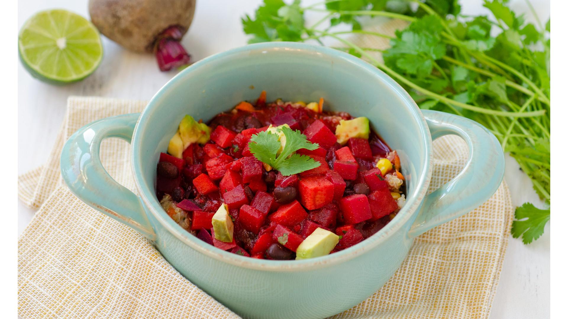 Hearty Veggie Chili and Southwestern Quinoa