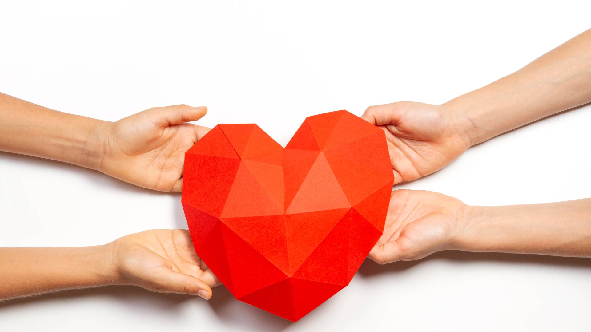 hands holding heart image
