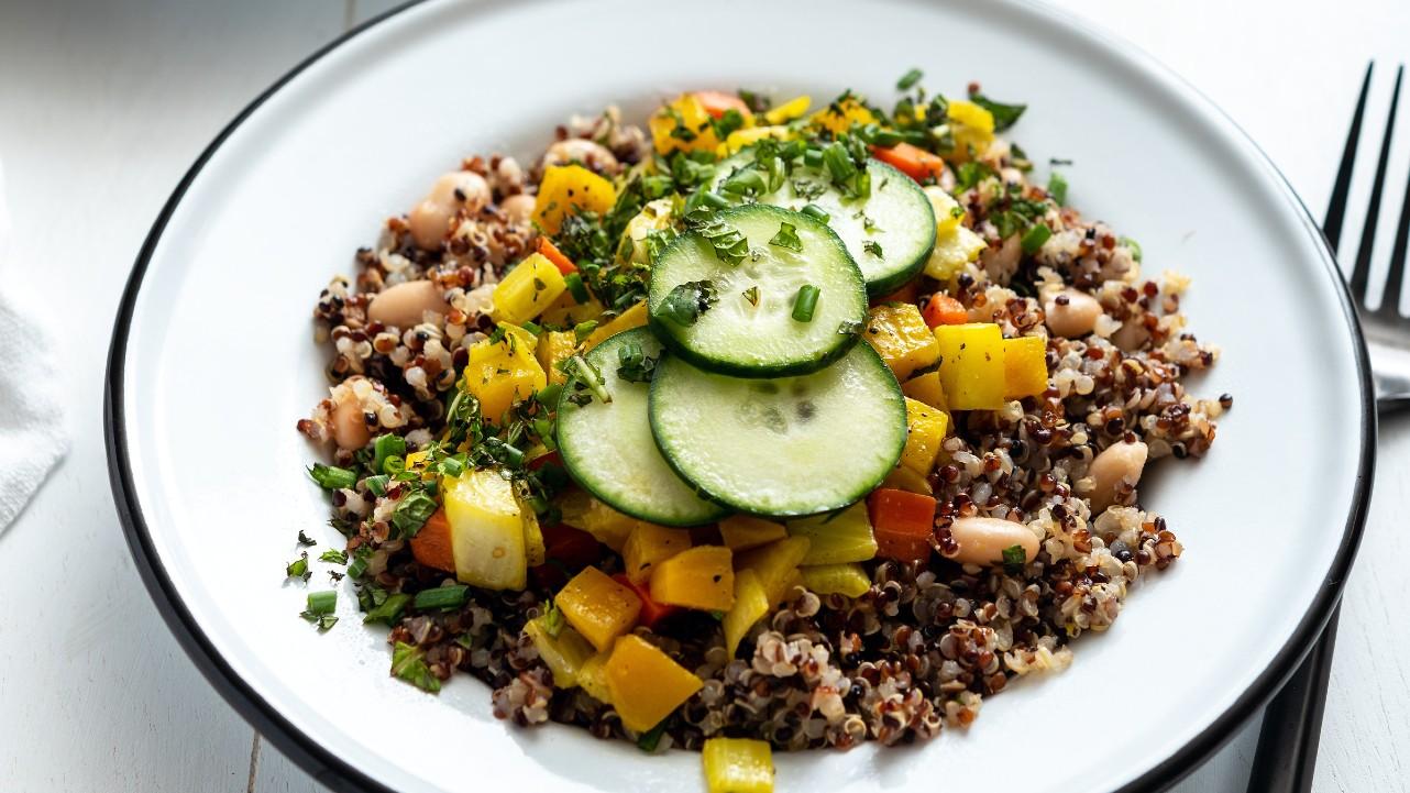 Herbed White Bean Quinoa Bowl