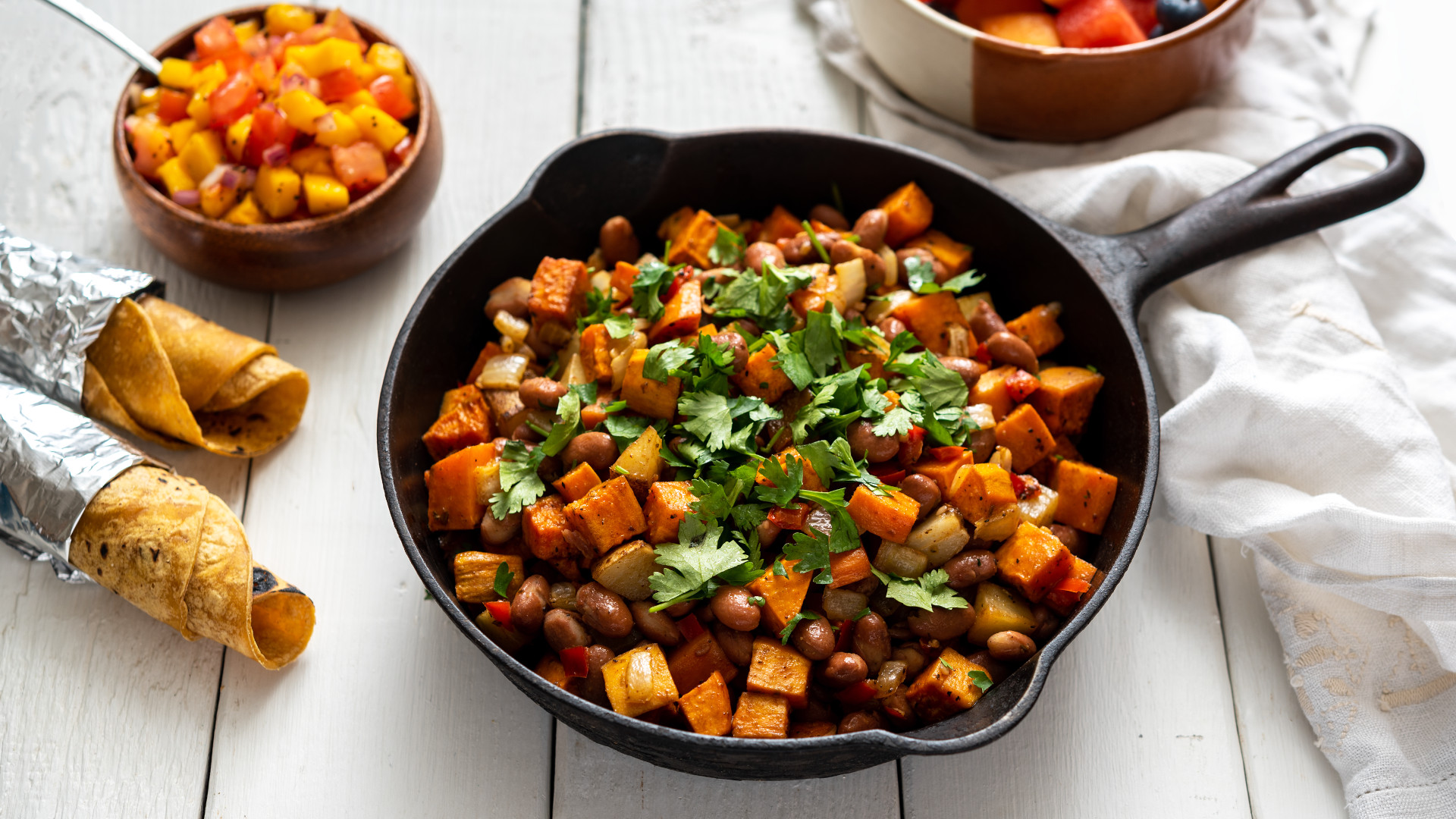 Mexican Sweet Potato and Pepper Hash