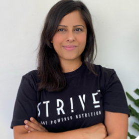 Arthi Deiva, Founder at STRIVE Plant Powered Nutrition