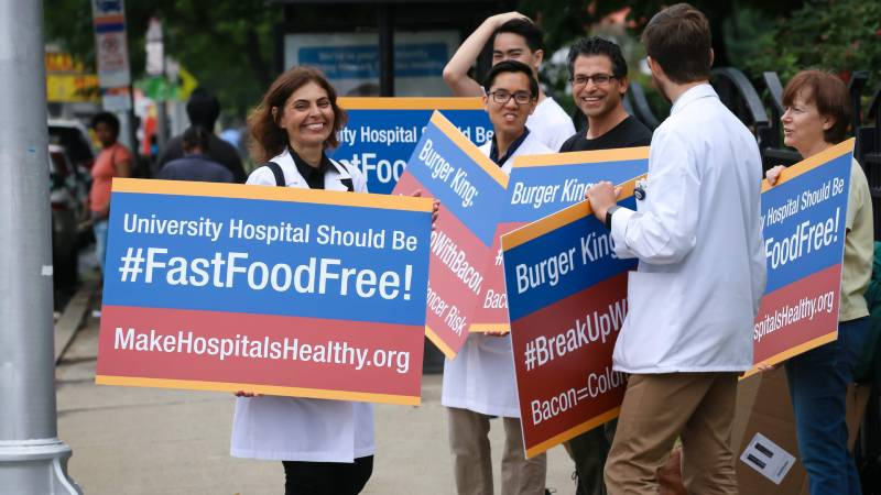 Doctor-Led Protest Confronts Burger King in University