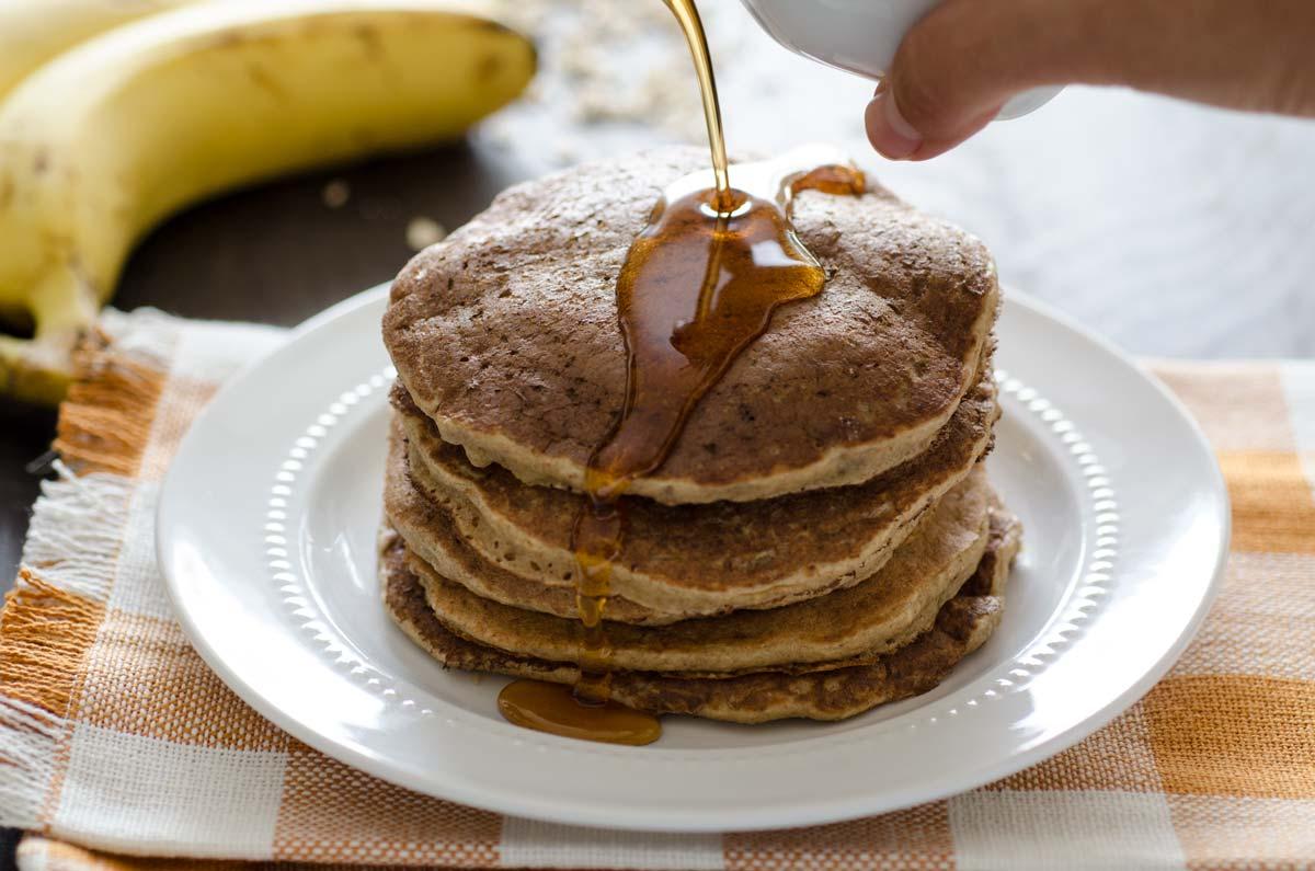 como hacer pancakes de avena saludables