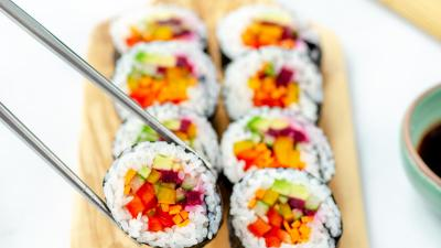 Rainbow Sushi and Hoisin
