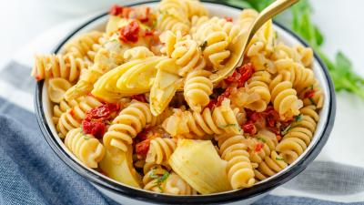 Fusilli with Artichokes